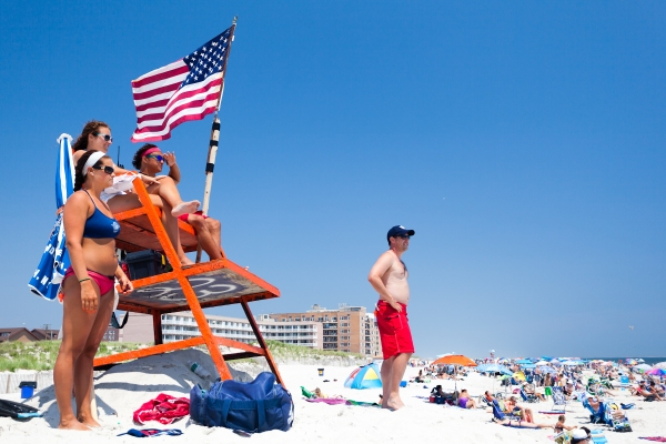 Lifeguard station, Long Beach, NY, 4th July 2012